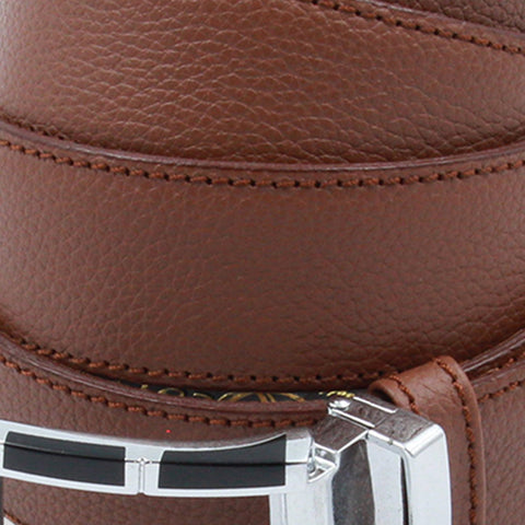 Brown Steel Leather Belt - justwhiteshirts
