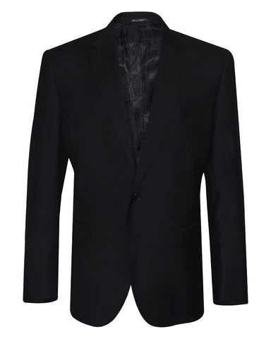Poly Viscose Black Suit Jacket