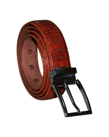 Leather Laser Cut C&C Royal Tan Belt