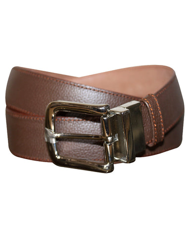 Leather Solid Brown Belt