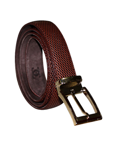 Mesh Leather C&C Royal Brown Belt