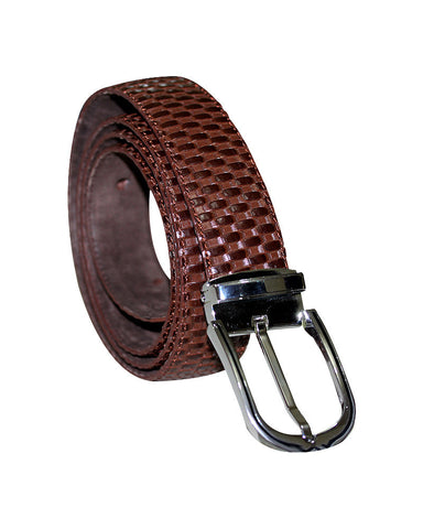 Woven Leather C&C Royal Brown Belt