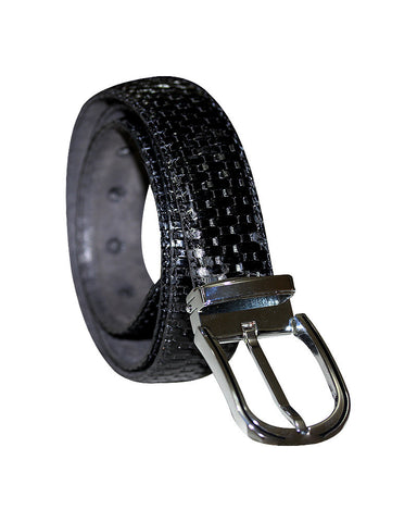Woven Leather C&C Royal Black Belt