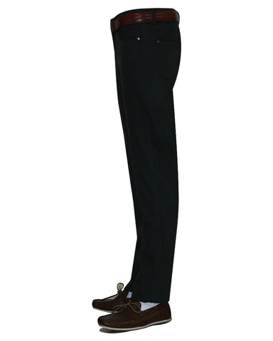 Pure Cotton Solid Black Trouser