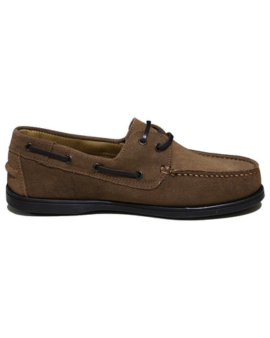 Leather C&C Royal Dark Brown Casual Boat Shoes