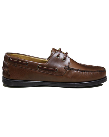 Leather C&C Royal Tan Casual Boat Shoes