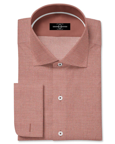 Pure Egyptian Cotton Red Herringbone Shirt F.17.0834