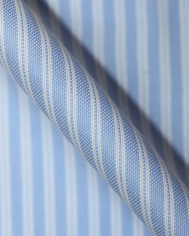 Pure Egyptian Cotton Sky Blue Stripe Shirt F.17.0977