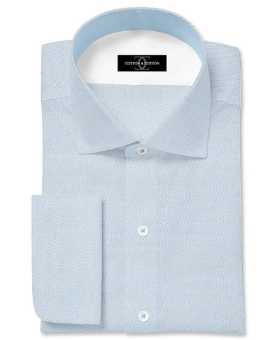Pure Egyptian Cotton Sky Blue End on End Shirt F.17.0979