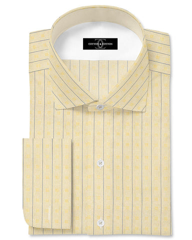 Pure Egyptian Cotton Golden Textured Shirt F.17.0988