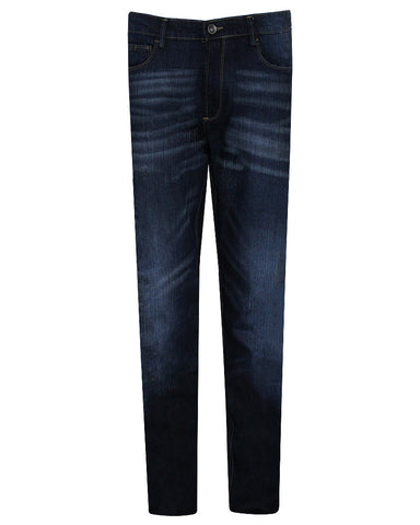 Cotton & Cotton Dark Blue Denim Regular Fit Jeans