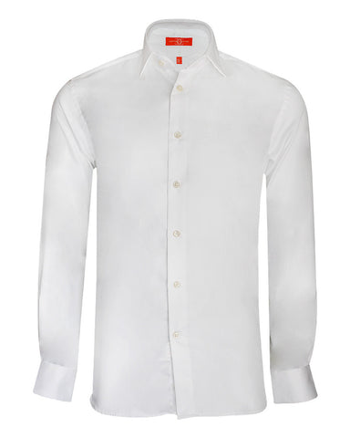 Pure Cotton White Formal Shirt