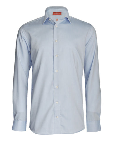 Pure Cotton Solid Sky Formal Shirt