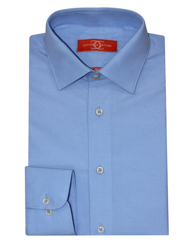 Pure Cotton Blue Formal Shirt