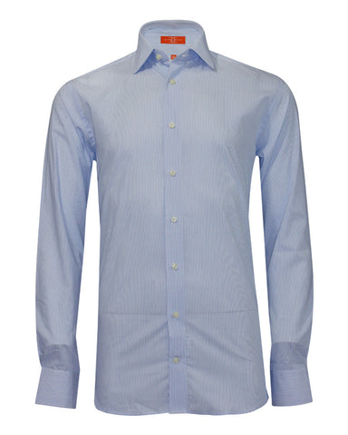 Pure Cotton Sky Stripe Formal Shirt