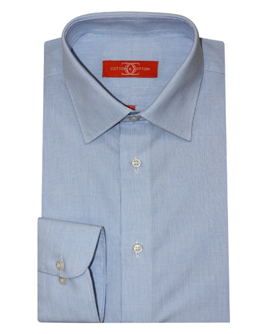 Pure Cotton Stripes Blue  Formal Shirt