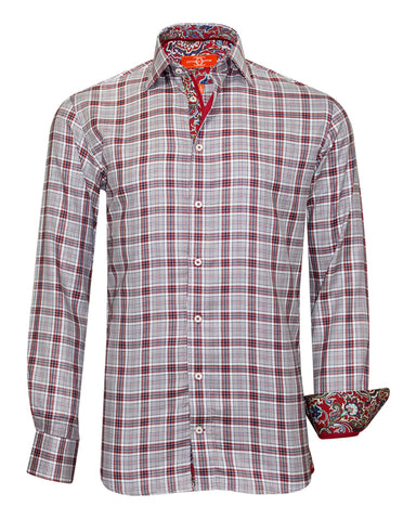 Pure Cotton Red Check Casual Shirt