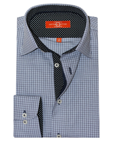 Pure Cotton Black Check Casual Shirt