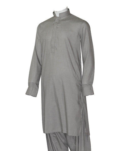 Poly Viscose Orange Label Grey Kameez Shalwar
