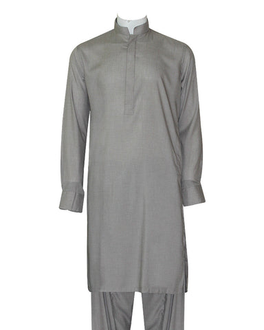 Poly Viscose Orange Label GreyKameez Shalwar