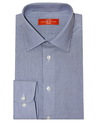 Pure Cotton Blue Stripe Formal Shirt