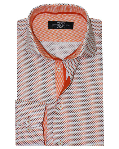 Pure Cotton Double Circle Printed Casual Shirt