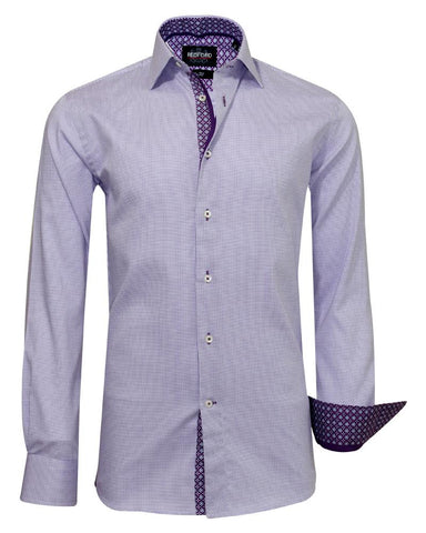 Redford Purple Doted Causal Shirt