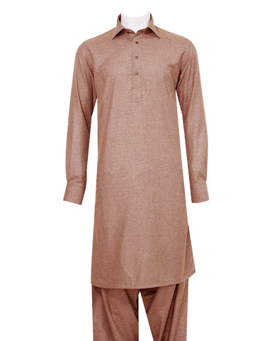Poly Viscose Orange Label Peach Shalwar Kameez
