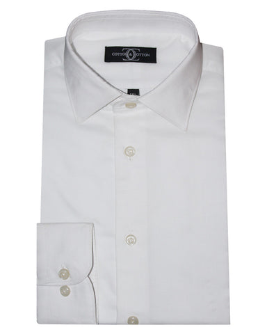 Pure Cotton Solid White ROX Formal Shirt