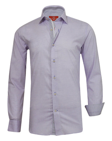 Pure Cotton Solid Purple DO Casual Shirt