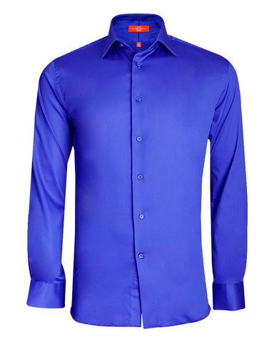 Pure Cotton Solid Blue PL Formal Shirt