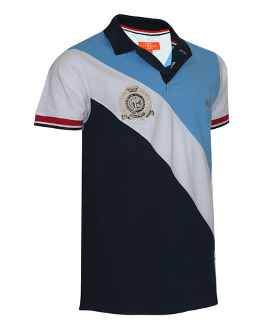 Sky Blue & black Polo Shirt