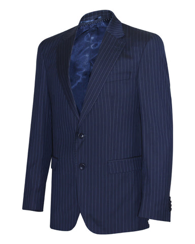Tropical Stripes Navy Plain Suit Jacket