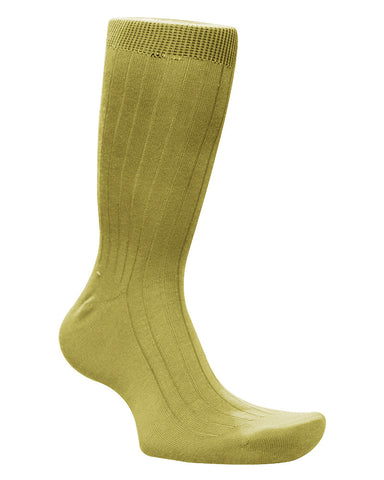 Cotton Solid Cream Socks