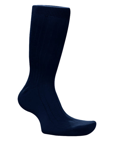 Cotton Solid Navy Socks
