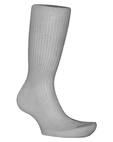 Cotton Solid Light Grey Socks