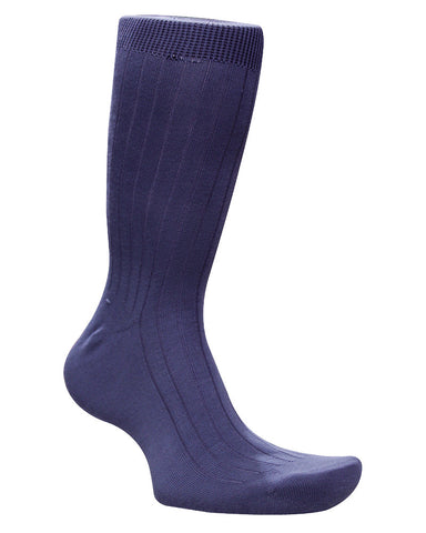 Cotton Solid Purple Socks