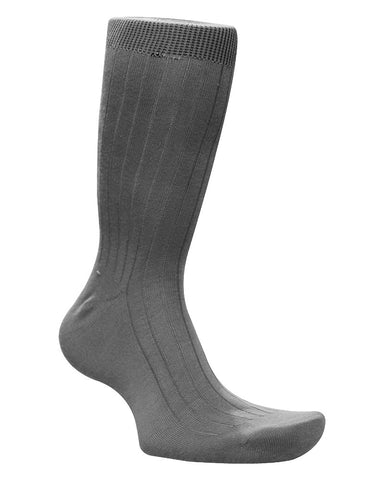 Cotton Solid Grey Socks