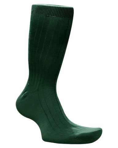 Cotton Solid Emerlad Green Socks
