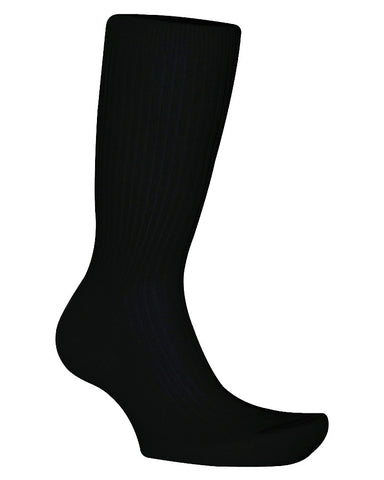 Cotton Solid Black Socks
