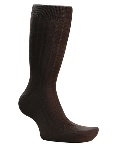 Cotton Solid Dark Brown Socks