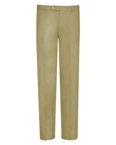Tropical Solid Camel Suit Pants