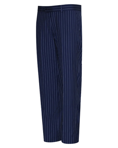Tropical Stripes Blue Plain Suit Pant
