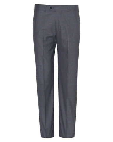 Tropical Glen check Grey Plain Suit Pant