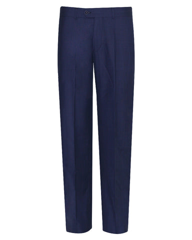 Tropical Glen check Navy Plain Suit Pant