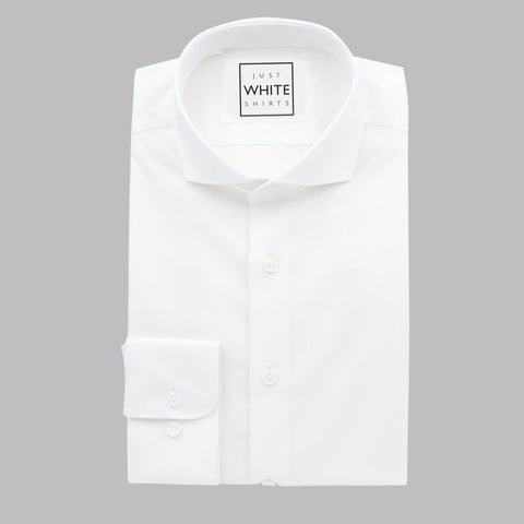 SPREAD COLLAR BUTTON CUFF, THE ULTIMATE WHITE SHIRT