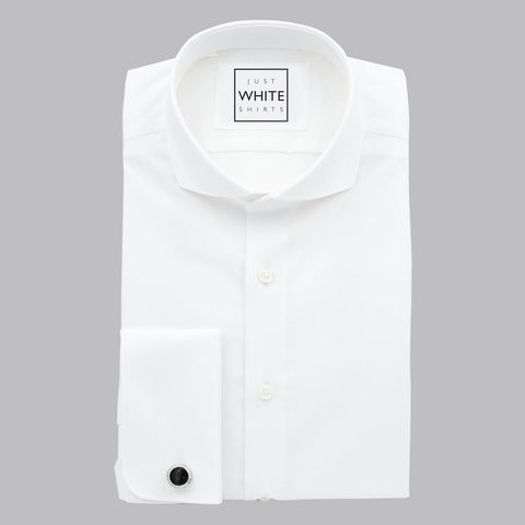 SPREAD COLLAR FRENCH CUFF, THE ULTIMATE WHITE SHIRT