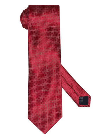 Pure Silk Brick Path Rio Red Silk Ties