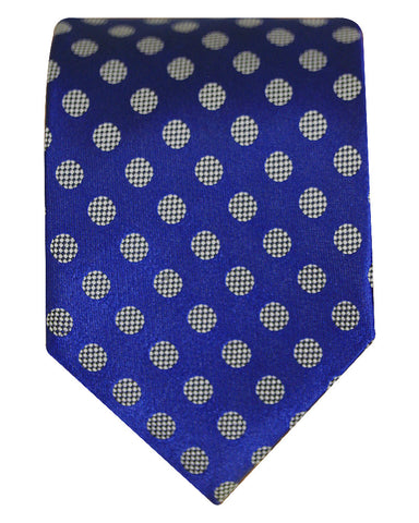 Pure Silk Bead And Reel Dazzling Blue Silk Ties