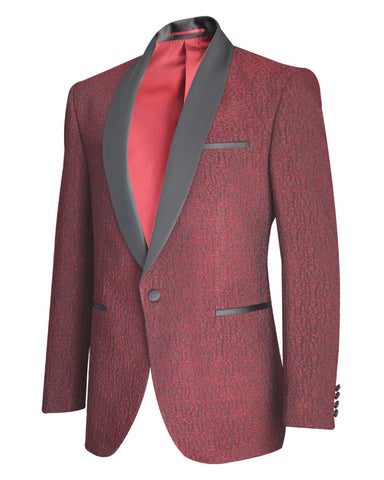 Tropical Solid Maroon Tuxedo Suit